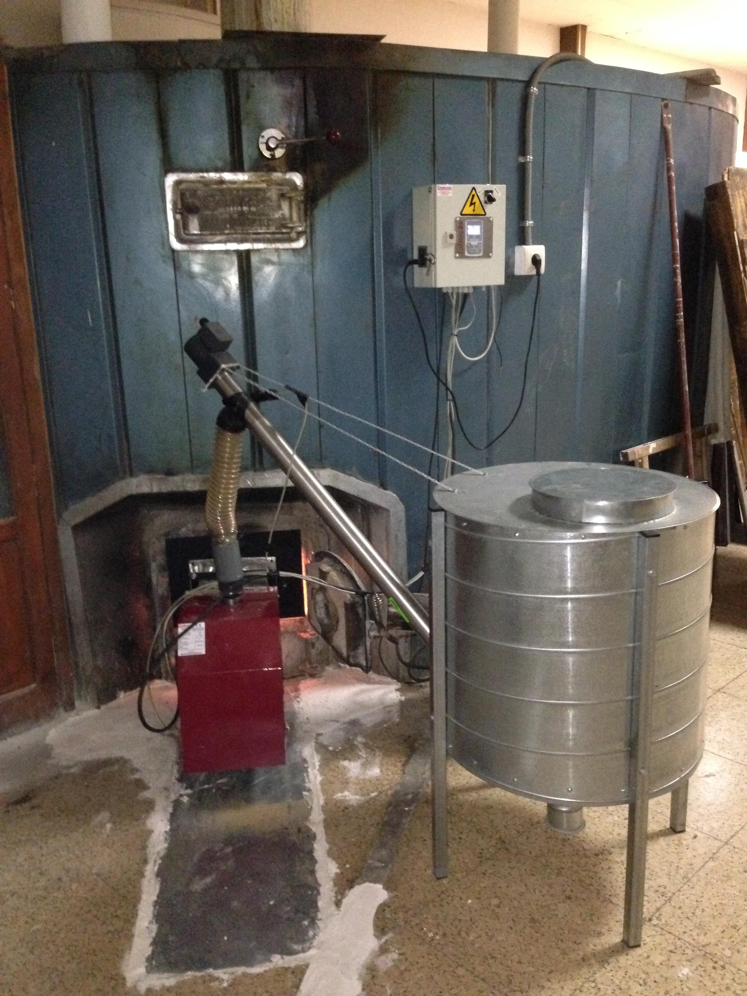 Sustituci n de un quemador de gas leo por uno de biomasa - Compro puertas antiguas ...